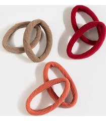 kaylani nylon hair tie pack - mauve