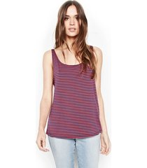duran swing scoop tank - l navy red stripe