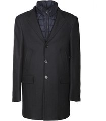 fay button down coat