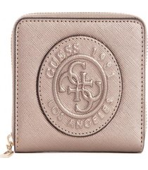 billetera celestine slg small zip around gris guess
