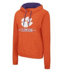 colosseum clemson tigers women's genius hooded sweatshirt