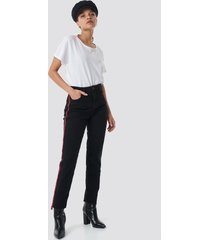 mango redline jeans - black