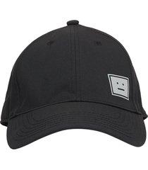 black and grey logo baseball cap