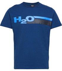 skagen tee t-shirts short-sleeved blå h2o