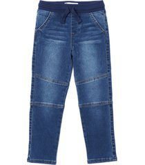 toddler boys tie waist slim striaght denim pant