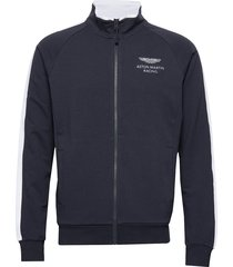 amr track fz sweat-shirt trui blauw hackett