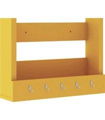 nicho decorativo 502x365x129 mm c/ suporte j amarelo movelbento