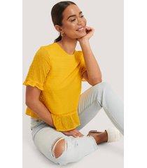 na-kd boho blus - yellow