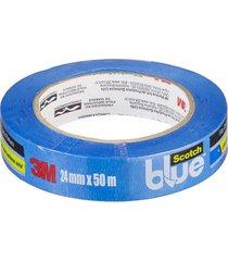 fita crepe azul blue - 24mmx50m - 3m - 3m