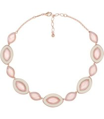 trifari rose gold-tone collar necklace