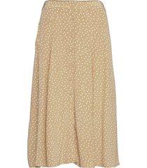 skirt lång kjol beige rosemunde