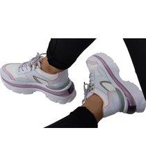 sneakers  white pink lorena herrera