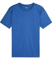 camiseta m/c estampado mini print rombos color azul, talla l
