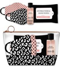 american exchange 5-pc. mask & hand sanitizer gift pouch
