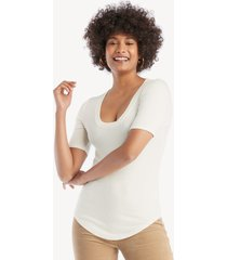 la made women's you rib basic top in color: la creme size xs from sole society