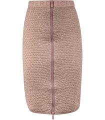 iceberg logo waist zip skirt