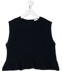 il gufo chunky knit top - blue