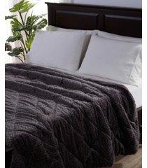 berkshire blanket & home co. large braid velvetloft full/queen comforter bedding