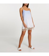 river island womens blue crochet mini beach dress