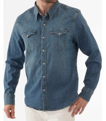 levi's barstow western shirt - dark denim 65816-0300