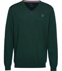 cotton wool v-neck gebreide trui v-hals groen gant