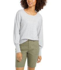 style & co pull-sleeve blouson sweater, created for macy's