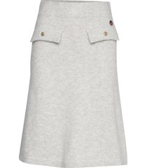 elise skirt knälång kjol grå busnel