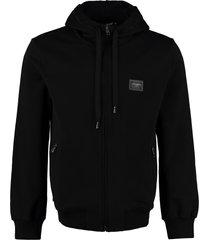 dolce & gabbana cotton full zip hoodie