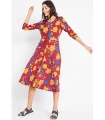 duurzame midi jurk, tencel™ lyocell