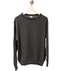 sweater negro redskin escote redondo