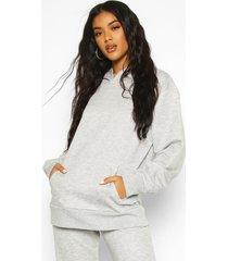 basic oversized hoodie, grijs gemêleerd