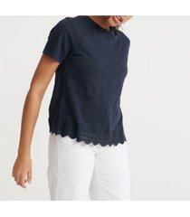superdry lace mix t-shirt