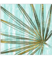 "empire art direct beach frond in gold i frameless free floating tempered art glass wall art by ead art coop, 38"" x 38"" x 0.2"""