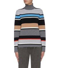'matterhorn' striped turtleneck sweater