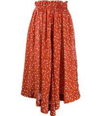 marni elastic waist midi skirt - lir30 arabesque