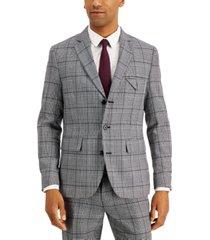 inc men's carter slim-fit plaid blazer, created for macy's