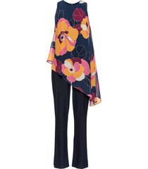 tuta elegante a fiori (blu) - bodyflirt boutique