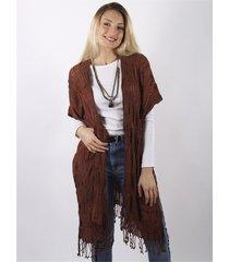 kimono chaleco marrón spiga 31