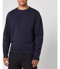 maison margiela men's elbow patch sweatshirt - navy - it 50/l