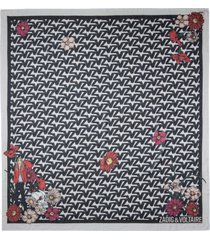 zadig & voltaire grace cecilia zv initiale print organic cotton scarf in flash at nordstrom