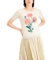 weekend max mara rose-print sweater