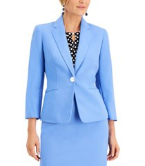 kasper petite one-button blazer