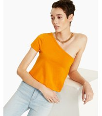 bar iii cotton one-shoulder t-shirt, created for macy's