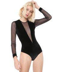 body calvin klein underwear veludo lile preto - kanui
