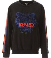 kenzo crepe sweatshirt with tiger embroidery