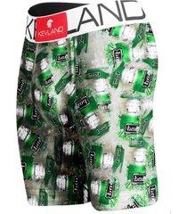 cueca boxer long leg kevland beer on ice verde - verde - masculino - dafiti