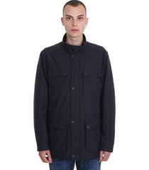 z zegna casual jacket in blue polyamide