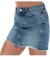 womens sky denim skirt