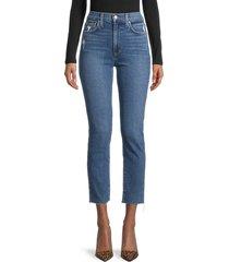 joe's jeans women's high-rise straight leg jeans - chilliwack - size 30 (8-10)