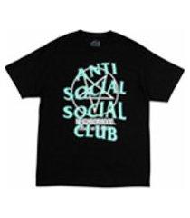 anti social social club camiseta x neighborhood filth fury - preto